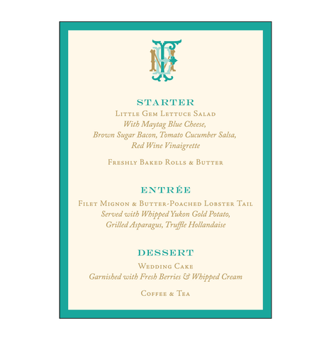 Birds of Paradise Menu