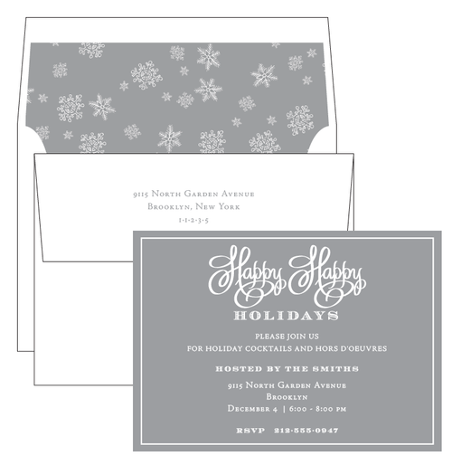 Happy Happy Holidays Invitation