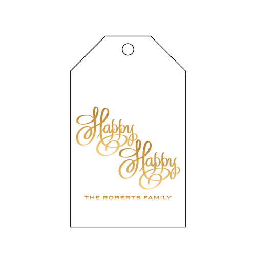 Happy Happy Foil Gift Tag