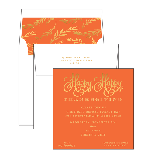 Happy Happy Thanksgiving Invitation