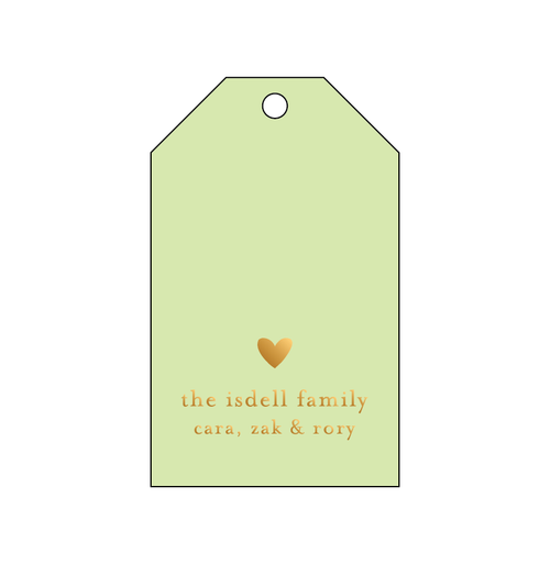 Heart Foil Gift Tag