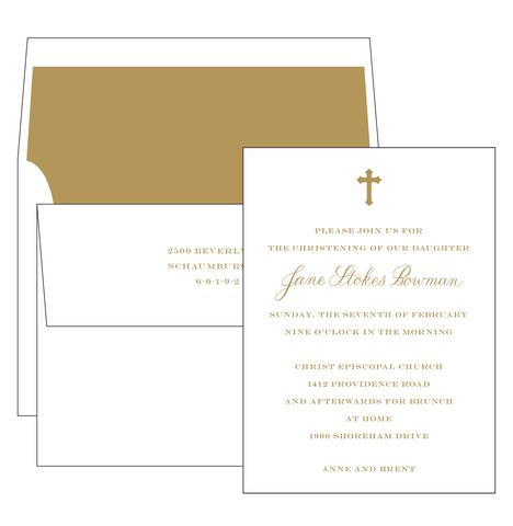 Calligraphy Cross Invitation