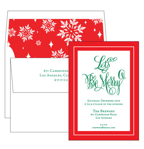 Christmas Eve Invitation