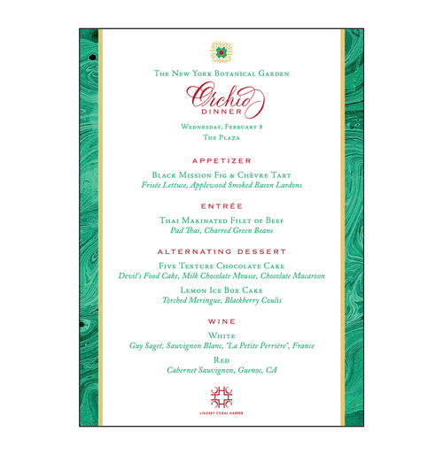 Malachite Menu