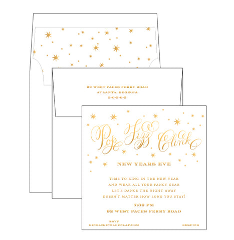 Blitzen the Night Away Invitation