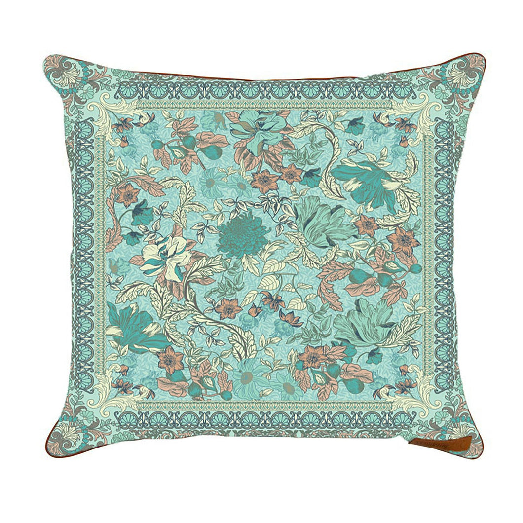 A Crystal_forest_dreamy_pastel_sea foam_blue_floral print_cushion_cover_wandering_folk_tamworth_campgrounds