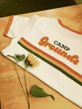 Load image into Gallery viewer, Camp Shirt - Ringer Orange/White