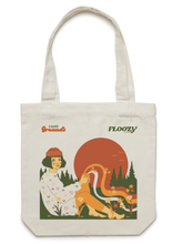 Load image into Gallery viewer, FloozyCampgrounds_camp_Grounds_Tamworth_coffee_collab_Tote_bag_coffee_shop_merch