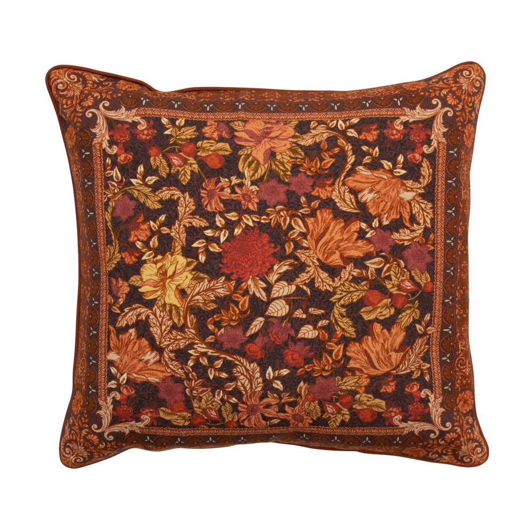 WanderingFolk_Cushion_Cover_pillow_campgrounds_coffee_retro_cushion_australian_floral