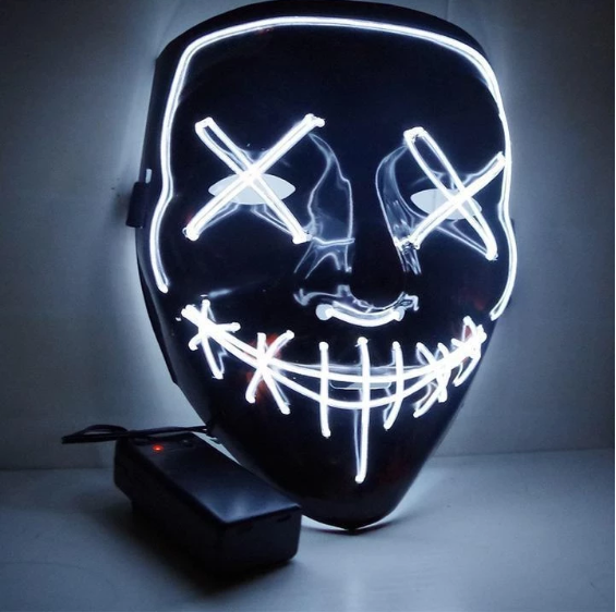 Halloween Hot Sale-Party & Rave Glow Mask