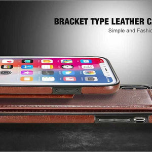 3 in 1 Luxury Leather Case For iPhone-APPLE ACCESSORIES-HaloChic