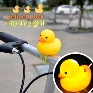 2020 Newest Helmet Duck Bicycle Horn Light