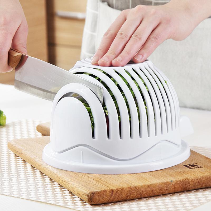 EASY SALAD WASHER AND CUTTER BOWL