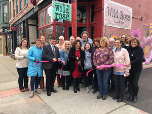 Wild Rose Ribbon Cutting