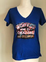 Wrigley Field Marquee - V Neck Shirt ⚾️