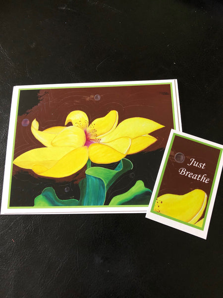 Just Breathe - Greeting cards by Annette