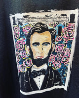 "Lincoln ""In Bloom"" -  Hand Painted Shirt"