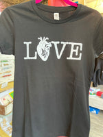 Love shirt-  Fitted