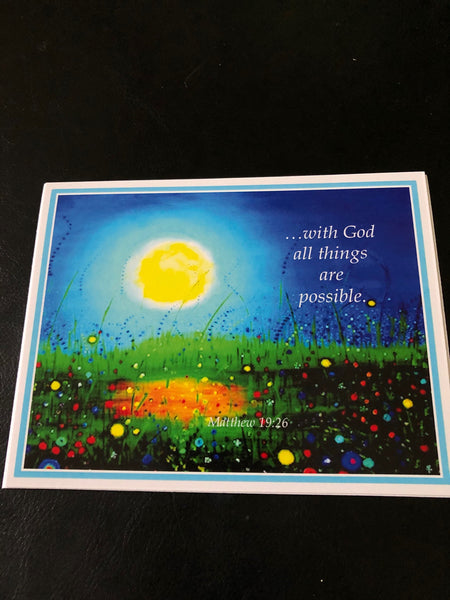 With God all things are possible - Greeting cards by Annette