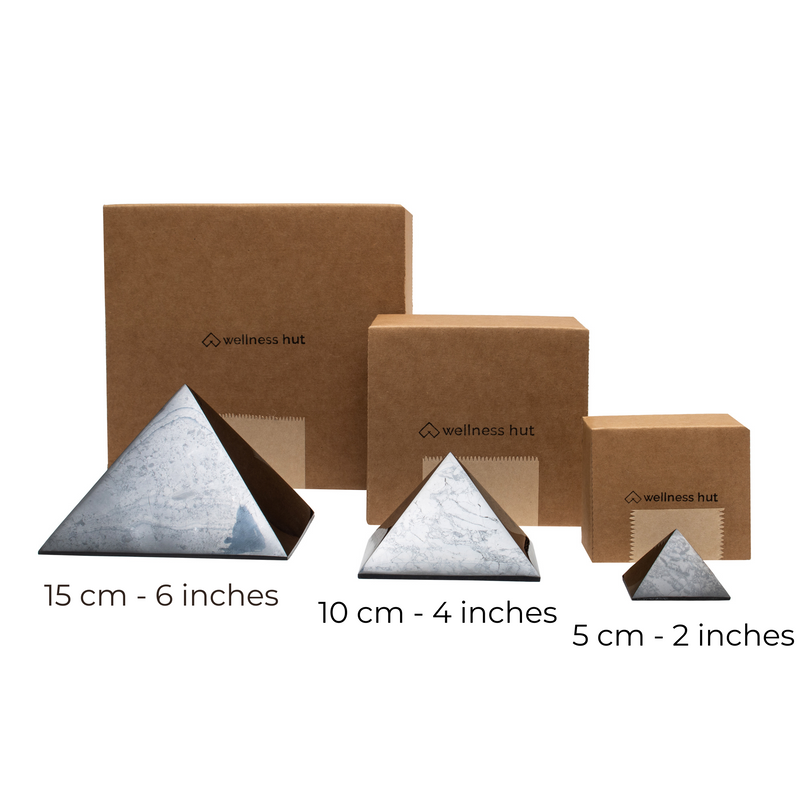 Shungite Pyramids sizes