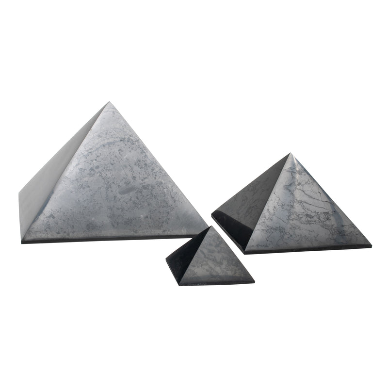Real Polished Shungite Pyramids