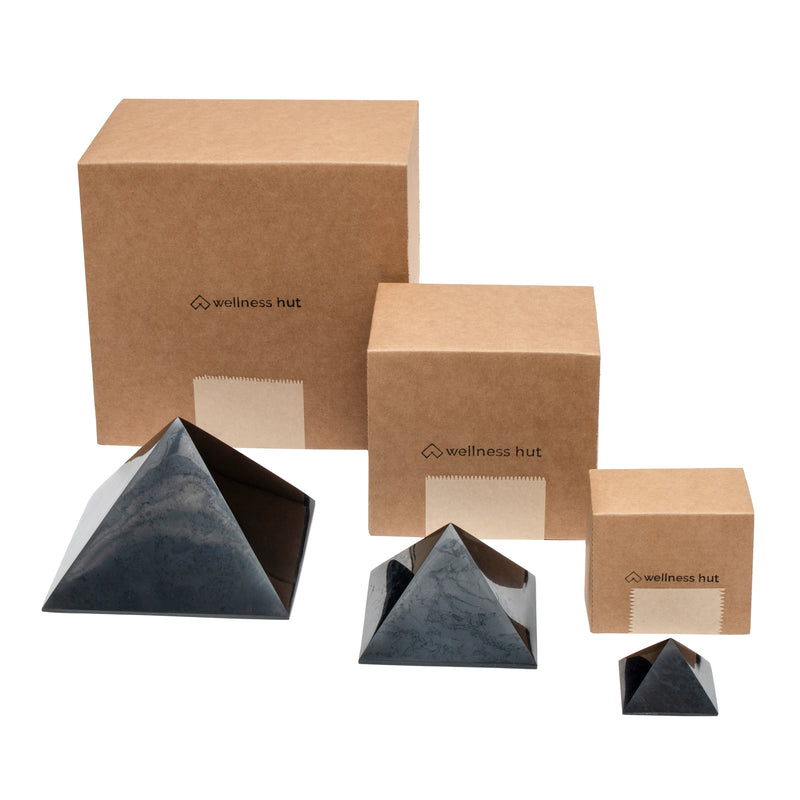 Shungite Pyramids with eco friendly package