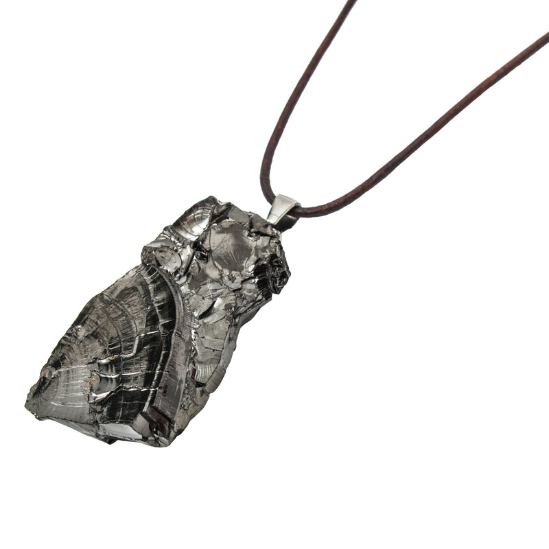Elite Shungite Adjustable Leather Necklace