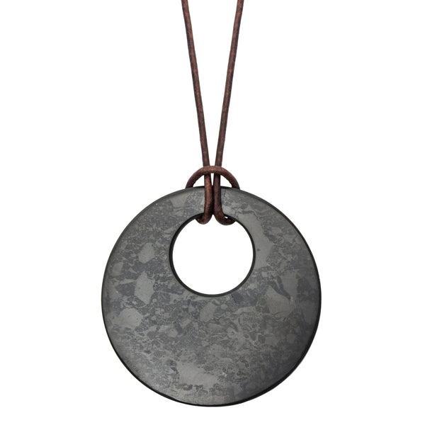 Tier III 'Circle in Circle' Style Shungite Necklace