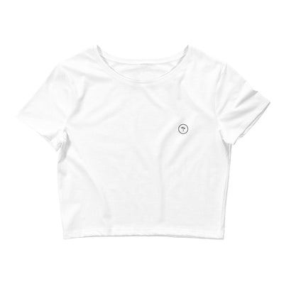 T-shirt Crop-Top Original - White - Sowll.com