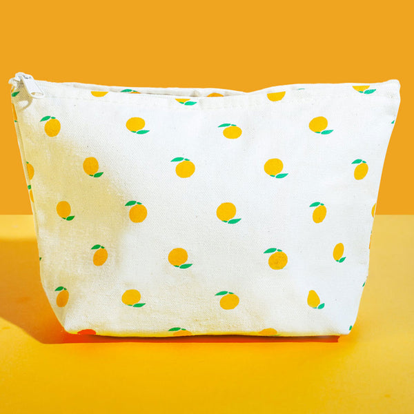 Peach Zipper Pouch