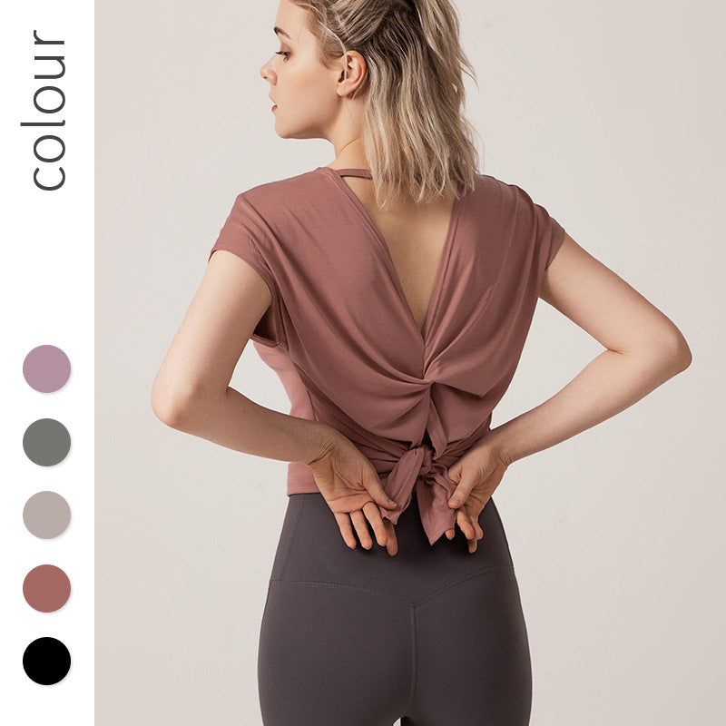Short-Sleeved Sports T-shirt Women's Loose Quick-Drying Running Fitness Top Summer plus Size Yoga Wear Blouse