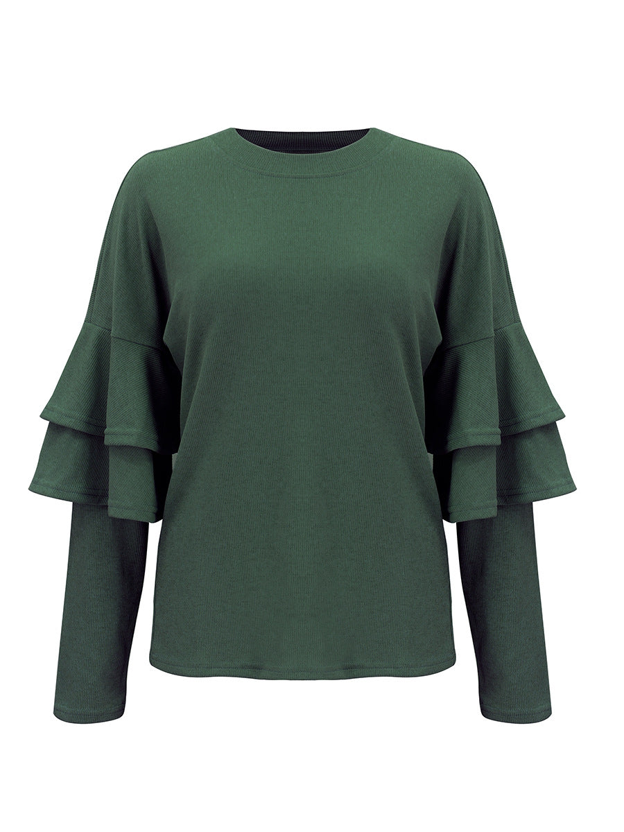 Hot Sale Autumn and Winter New Women's Knit Shirt Solid Color Bottoming Shirt