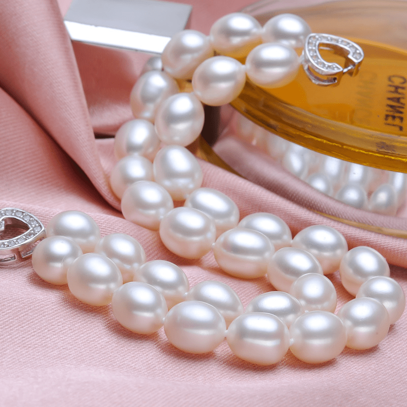 DOUBLE ROW FRESHWATER PEARL BRACELETS WITH HEART CLASP | SRIMOYEE FASHION WORLD