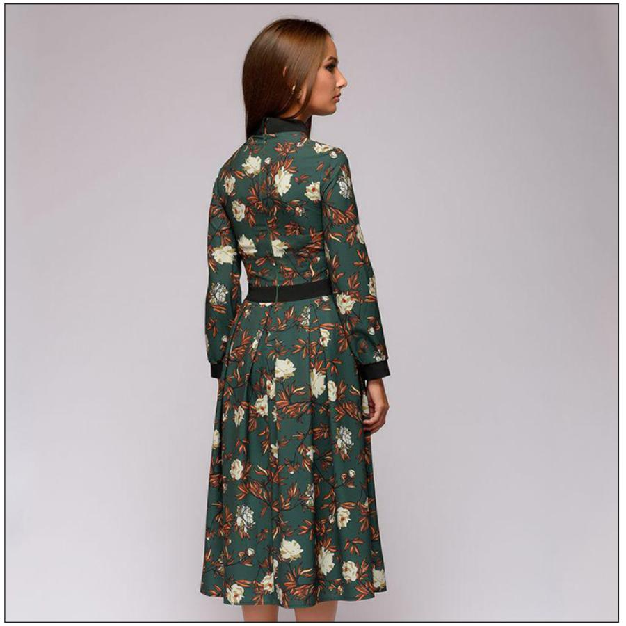 PATCHWORK PRINTING A-LINE VINTAGE STYLE DRESS | SRIMOYEE FASHION WORLD