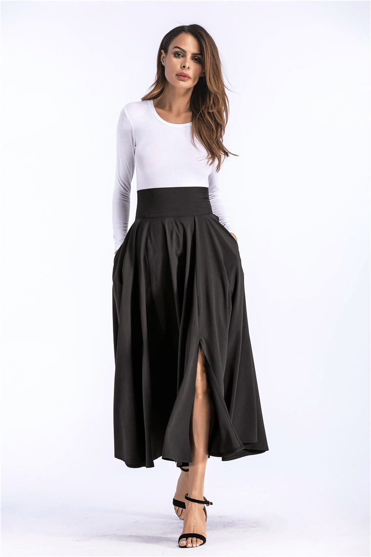 FLARED POCKETS LACE UP BOW PLUS SIZE SKIRT | SRIMOYEE FASHION WORLD