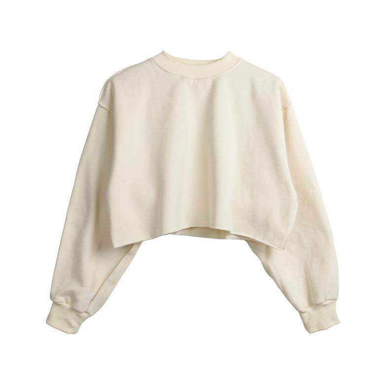 Sweatshirts Women Lantern Sleeve Oversize Solid Color Women Clothes Autumn Casual Lady Tops