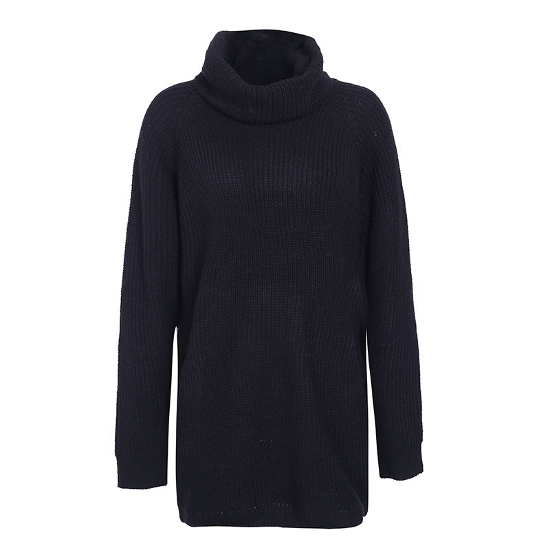 Simplee Turtleneck knitted sweater women Casual loose long sweater pullover female Winter oversize pull knit jumper autumn 2020