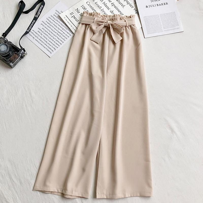 BOW BELT LOOSE HIGH WAIST ANKLE LENGTH TROUSERS | SRIMOYEE FASHION WORLD