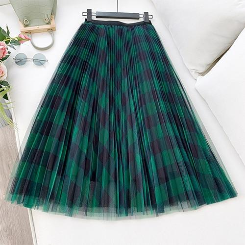 NEW ELEGANT A LINE HIGH WAIST PLEATED MAXI SKIRT | SRIMOYEE FASHION WORLD
