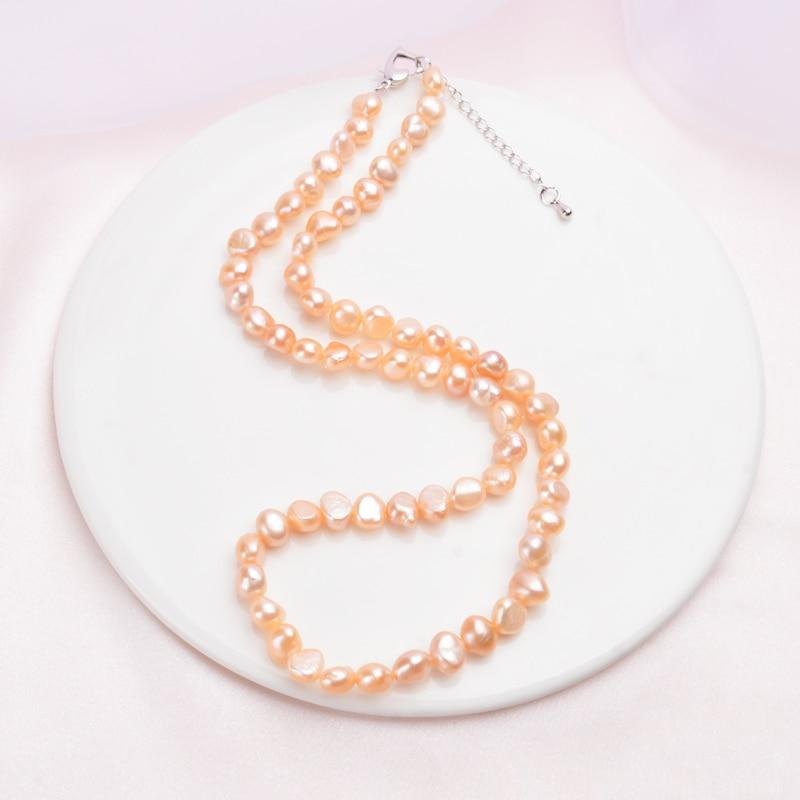 NATURAL FRESHWATER VINTAGE BAROQUE PEARL NECKLACE 7-8mm