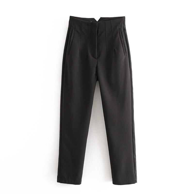 PLEATED HIGH WAIST SOLID HAREM FULL LENGTH PANTS