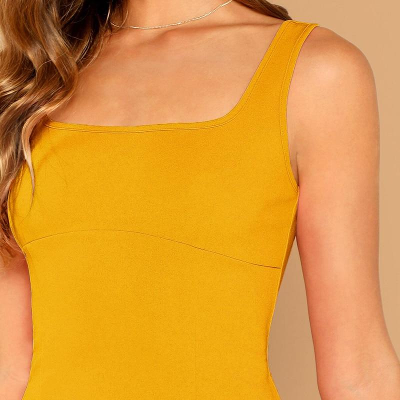 ELEGANT SLEEVELESS STRAPS A-LINE ZIPPER DRESS | SRIMOYEE FASHION WORLD