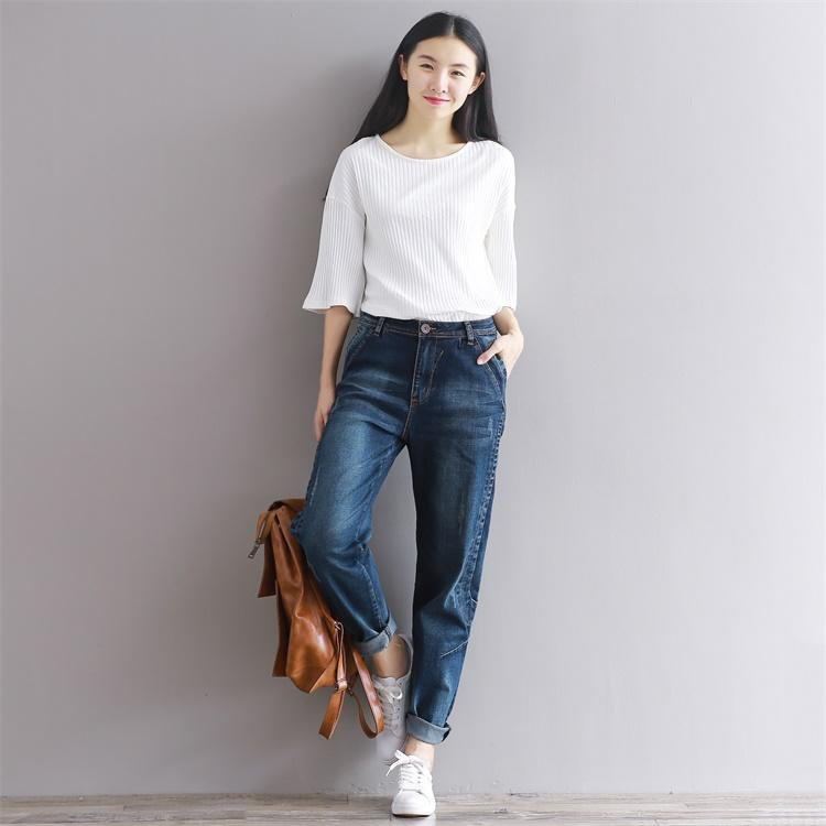 CASUAL PLUS SIZE LOOSE FIT VINTAGE DENIM JEANS PANTS | SRIMOYEE FASHION WORLD