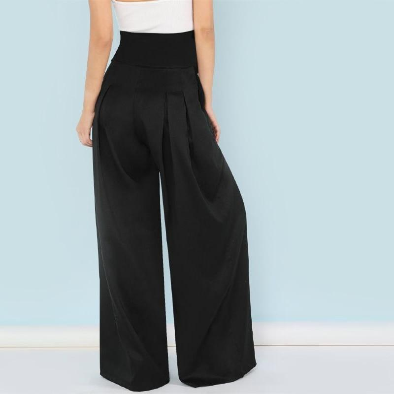 SELF BELTED ELEGANT BOX PLEATED LONG PALAZZO PANTS | SRIMOYEE FASHION WORLD