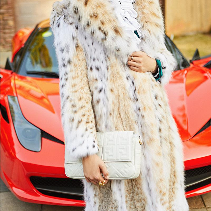 Original Color Luxury Natural Fur Coat