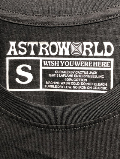 ASTROWORLD HAPPY FACE SHIRT - BLACK