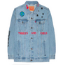 Astroworld Levis Denim Jacket Blue