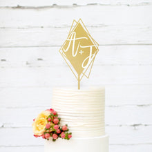 Load image into Gallery viewer, Custom Diamond-Shaped Cake Topper