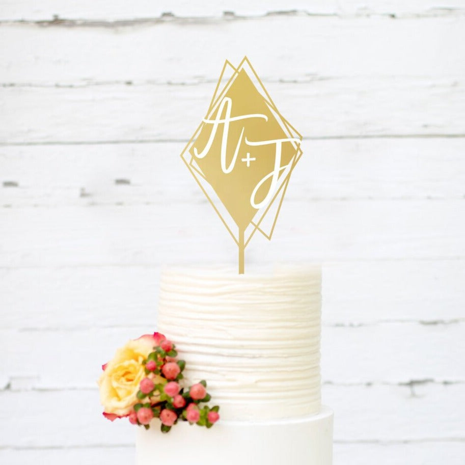 Custom Diamond-Shaped Cake Topper