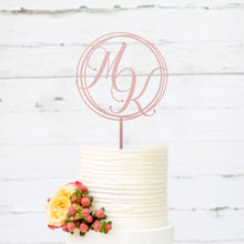 Load image into Gallery viewer, Custom Monogram Cake Topper